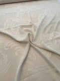 Majestic Leaf Silk Jacquard - Light Ivory
