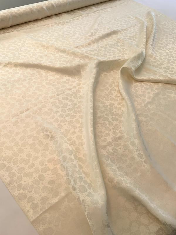 Dainty Floral Silk Jacquard - Light Cream