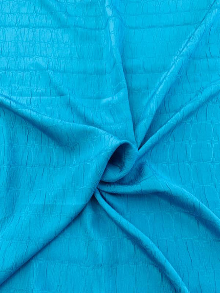 Art Deco Cloque Silk Jacquard - Blue