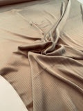 Pinstripe Charmeuse with Silk Chiffon Base - Autumn Gold