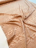 Wood Grain Stretch Silk Jacquard - Caramel Tan