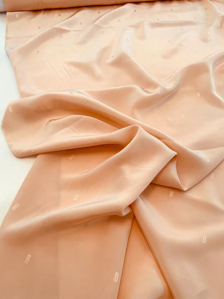 Bill Blass Logo Silk Jacquard - Peach