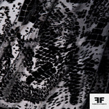 Abstract Burnout Velvet - Black - Fabrics & Fabrics NY