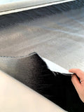 Italian Textured and Gathered 2-Ply Gradient Ombre Polyester Taffeta Panel - Grey / Black