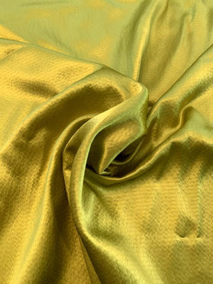 Hammered Silk Charmeuse - Chartreuse