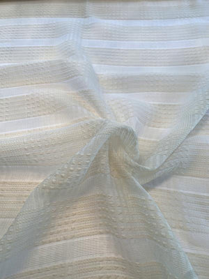 Italian Textured Basketweave-Look Polyester Novelty - Cream