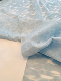 Morphed Circles Polyester and Cotton Organza - Baby Blue