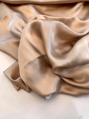 Mini Hammered Silk Charmeuse - Peach Blush