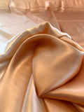 Ombre Printed Silk Charmeuse - Cream to Coral Orange