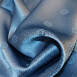 Polka Dot Silk Jacquard - Blue