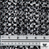 Checkerboard Basketweave Suiting - Black/White - Fabrics & Fabrics NY
