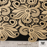 Abstract Floral Guipure Lace - Gold - Fabrics & Fabrics NY