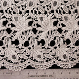 Floral Guipure Lace - Warm White