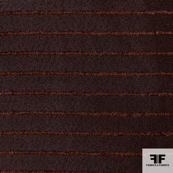 Striped Novelty Silk fabric - Brown