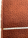 Splatter Circles Printed Linen - Bordeaux / Wine