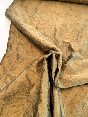 Luxury Crinkle Crushed Silk Taffeta - Bronze