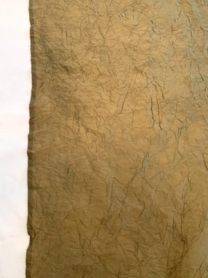 Luxury Crinkle Crushed Silk Taffeta - Antique Dark Gold