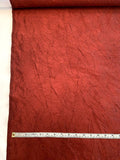 Luxury Crinkle Crushed Silk Taffeta - Wine Red