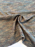 Made in England Linton Wool Tweed - Brown / Caramel / Teal / Grey