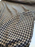 Italian Cotton and Poly Blend Circle Pattern Suiting - Sand / Black / White