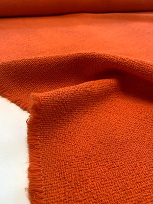 Italian Classic Woven Cotton Suiting - True Orange