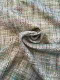Italian Classic Woven Cotton Tweed - Shades of Green / Sand / Earth