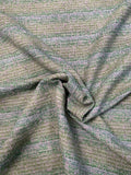 Italian Classic Tweed Suiting with Silver Shimmer Threads - Shades of Green / White / Silver Lurex