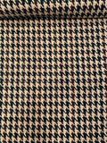 Italian Colorful Woven Houndstooth Suiting - Teal / Ivory / Brown / Pink