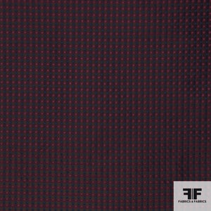 Yarn Died Silk Plaid - Burgundy/Navy