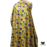 Floral Printed Silk Twill - Yellow