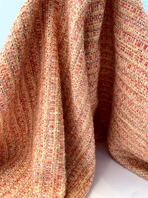 Italian Classic Tweed - Deep Coral / Ivory / Pastel Orange