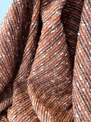 Autumn Inspired Classic Tweed - Shades of Orange / Brown / Off-White