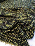 Italian Classic Boucle Tweed - Lime Green / Olive / Black