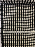 Italian Double-Sided Geometric Design Tweed - Black / White / Clear