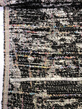 Italian Stylish Multicolor Cotton Blend Tweed - Black / White / Rainbow