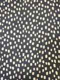 Lots of Dots Printed Silk Chiffon - Black / Tan