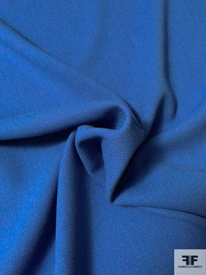 Italian Double Faced Wool Crepe with Stretch - Blue