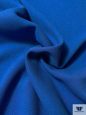 Italian Double Faced Wool Crepe with Stretch - Royal Blue