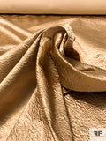 Crushed Look Stretch Polyester Satin - Vintage Gold