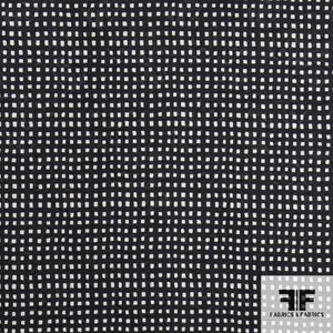 Checkered Silk Wool Blend - Black/Off White - Fabrics & Fabrics NY