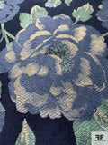 Romantic Floral Jacketweight Brocade - Blue / Navy / Sage