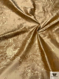 Toile Landscape Silk Taffeta Jacquard - Antique Gold