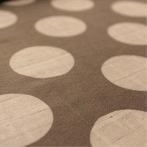 Polka Dot Printed Silk Shantung - Grey