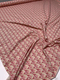 Italian Art Deco Swirl Printed Cotton Spandex Jersey Knit - Dusty Pink / Gold / Cream