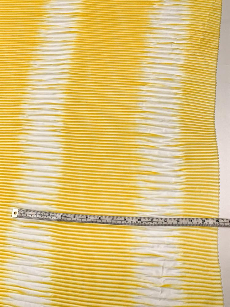 Prabal Gurung Pleated Tie-Dye Polyester Crepe de Chine - Sunshine Yellow / White