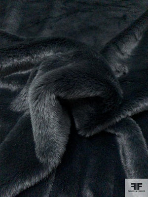 Ultra Soft Solid Faux Fur - Midnight Navy Rainforest