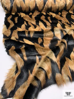 Tribal Vibes Long-Hair Faux Fur - Brown / Tan / Black