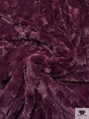 Ultra Soft Solid Faux Fur - Grape Purple