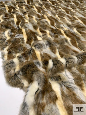 Tribal Vibes Long-Hair Faux Fur - Ivory / Grey / Latte Brown