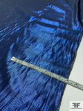 Made in Japan Silk and Lurex Pique Lame - Electric Blue